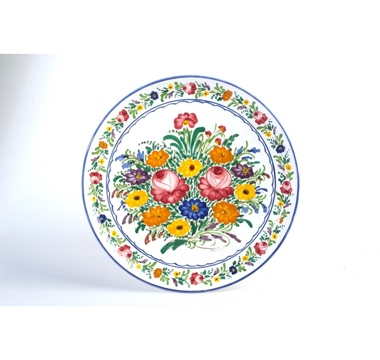 Decorative fioraccio circle plate by bontempo ceramiche - Ceramiche decorative ...